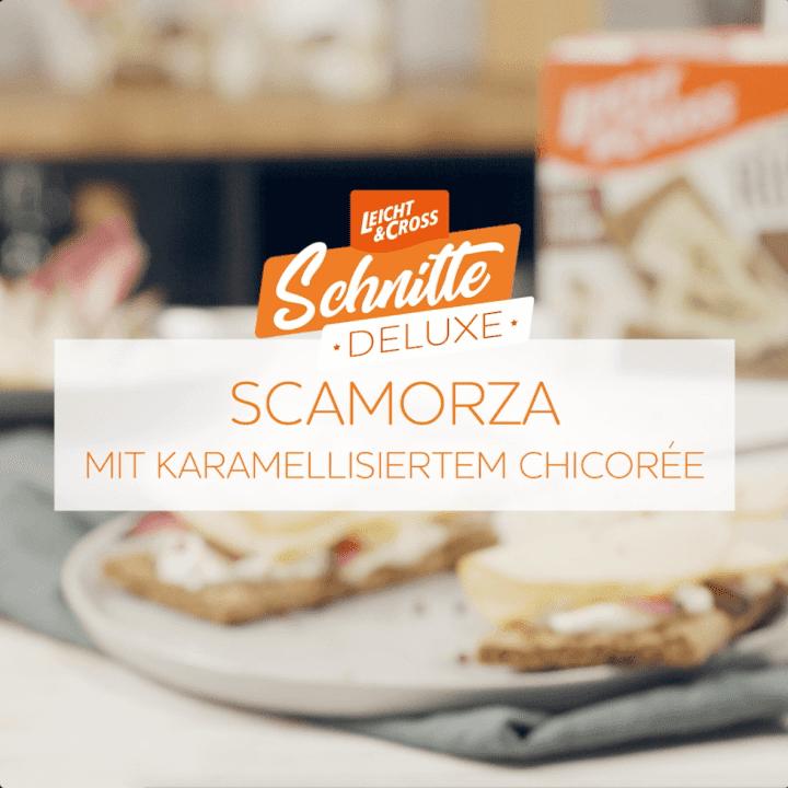 Zubereitungsvideo Würziger italienischer Kuhmilchkäse Scamorza mit karamellisiertem Chicoree
