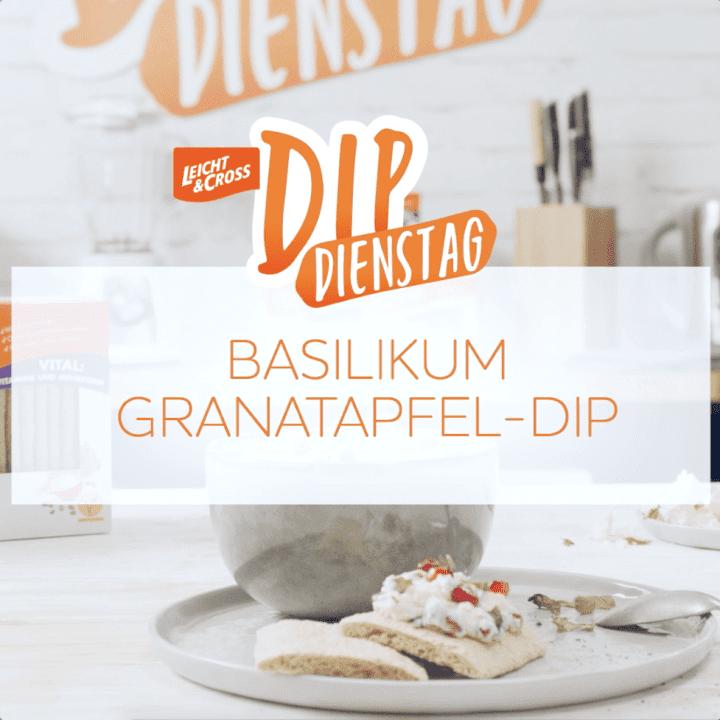 Zubereitungsvideo Basilikum-Granatapfel-Dip