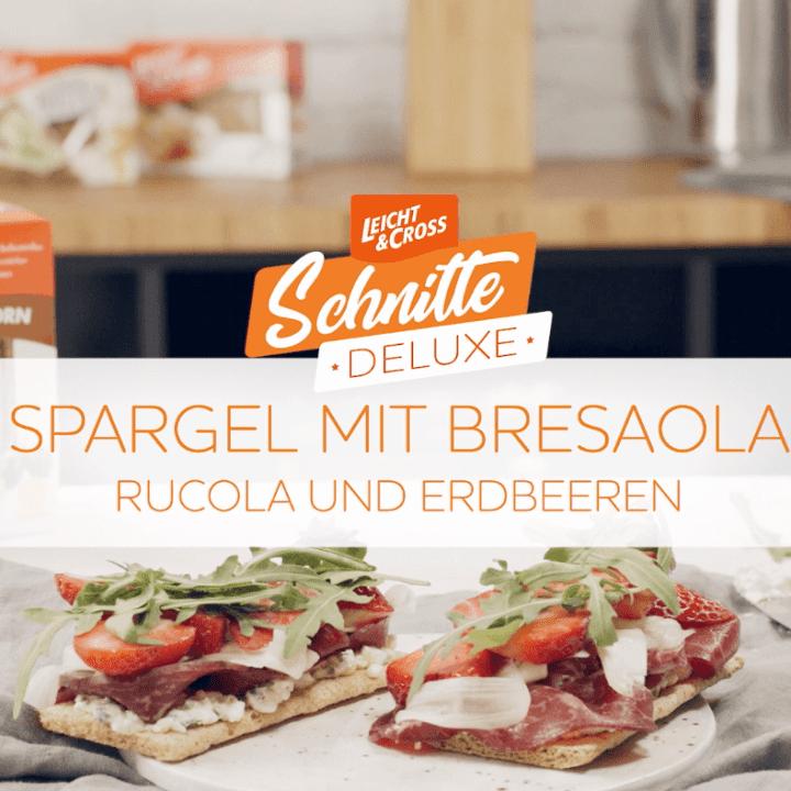 Zubereitungsvideo Schnitte Deluxe: Spargel mit Bresaola, Erdbeeren und Rucola