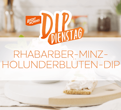 Zubereitungsvideo Rhabarber-Minz-Holunderblüten-Dip